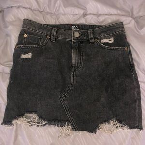 Urban Outfitters BDG Gray Distressed Mini Skirt